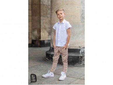 Balti marškinukai trumpomis rankovėmis 4