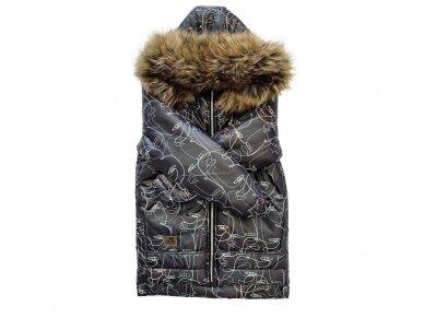 Šilta striukė žiemai NEAR NATURE (juoda) 2